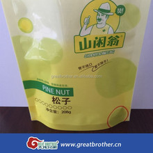 Factory price pine nut standing pouch/food packaging plastic bag