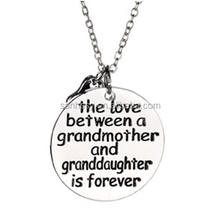 Grandmother Love Granddaughter Engraved Pendant Necklace