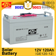 hot quality sealed maintenance free 12v 120ah solar charger car battery