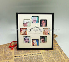 circle photo frame with circle of friends' photos for souvenir