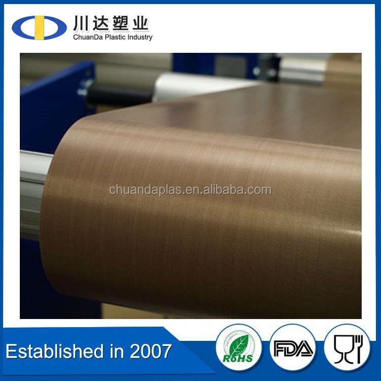E-glass Yarn Type PTFE Teflon Sheet, High temperature natural color ptfe teflon sheet