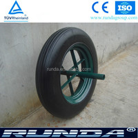 14x4 wheel barrow solid rubber wheel