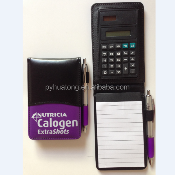 POCKET SIZE calculator with leather case