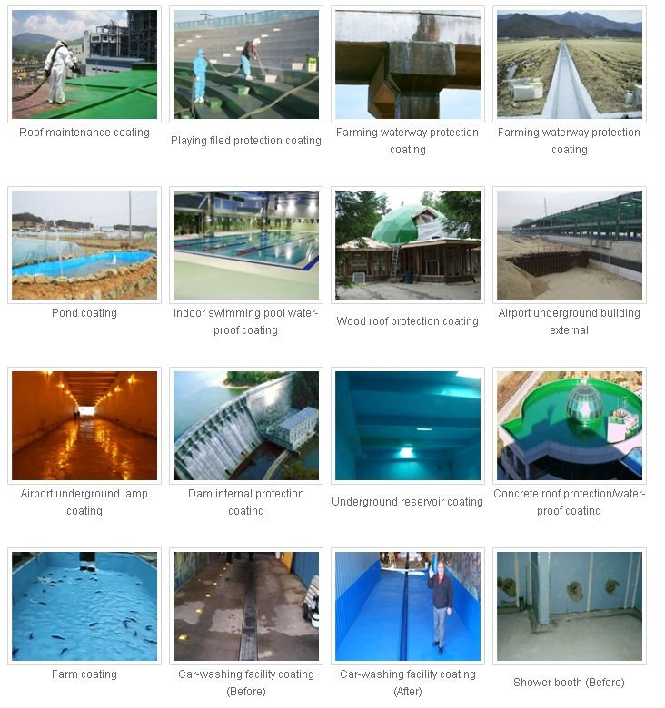 High quality waterproof (Polyurea,General type,High elongation type,pure ,spraying coating)
