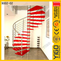 wrought iron spiral staircase & stainless steel metal railing steel spiral stairs