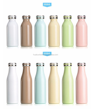 best selling 350ml 500ml custom stainless steel insulated vacuum plain mini milk thermos bottle wholesale bpa free