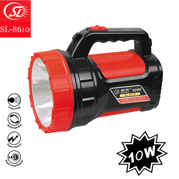 Hot! 2017 functional high power 10W LED rechargeable searchlight