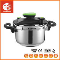 gas commercial stainless steel pressure cooker with safety part
