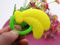 wholesale funny silicone baby fruit shape banana teether cheap price