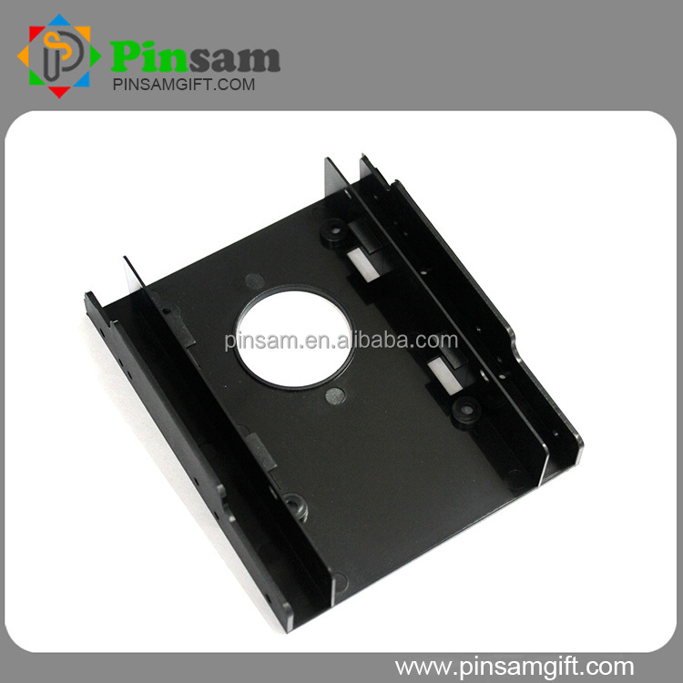 "OEM Plastic 2.5"" HDD Bracket Black HDD mounting bracket 3.5"" support Dual 2.5 inch HDD"