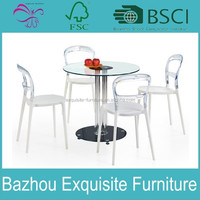 Modern Pub Set Bar Furniture Dining LED Glass Table Top Chairs 3 Pc Bistro Metal