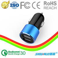 low price high quality mini dual port car usb charger coloful Mobile Phone Charger for Apple and Samsung