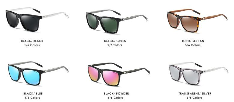 wholesale small order stock Hot sale new colorful fashion UV400 polarized sunglasses