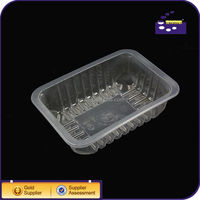 plastic fresh tray with pressed film