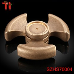 2017 relieve stress caremic stainless steel finger spinner educational kid adult toys brass plastic hand spinner fidget toy
