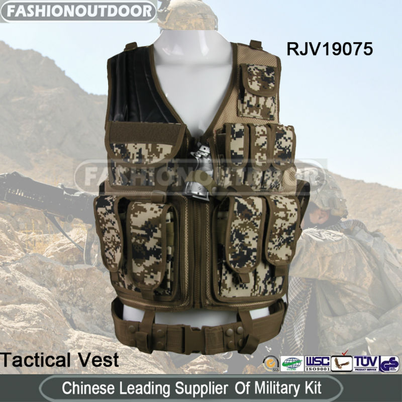 AKMAX Digital camo tactical vest airsoft vest military vest made by FashionOutdoor