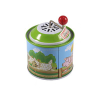 music tin box for children's toy set customized pattern