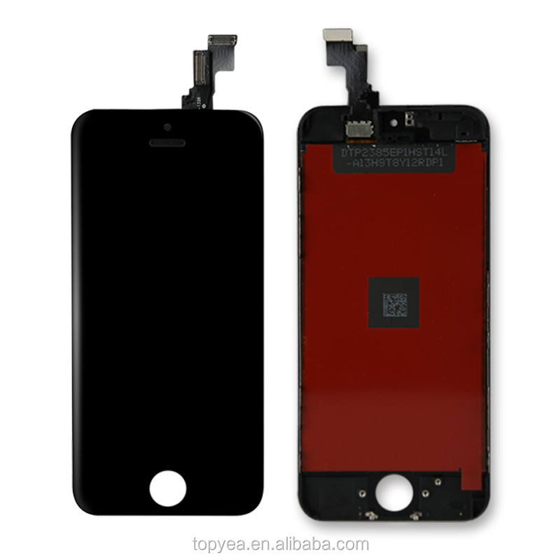 mobile phone stand original digitizer + free tools lcd display + touch screen for iphone 5S