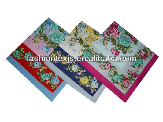 flowers printed cotton wholesale lady hanky