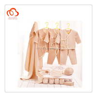 100% organic cotton blank baby clothes 18 pieces set for all season and winter