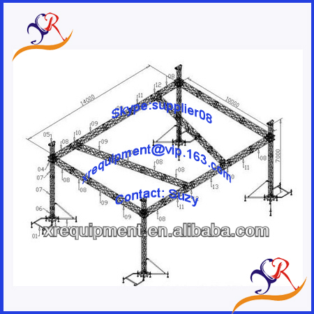 Truss exhibition booths design and construction
