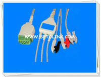 GE 11 PIN ECG CABLE 3 LEADS CLIP