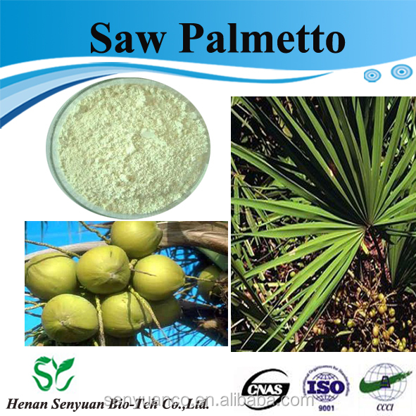 factory supply saw palmetto berry extract natural fatty acids 25% CAS :84604-15-9
