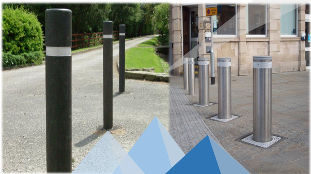 factory price stainless steel breakaway fixed parking bollards,safety poles