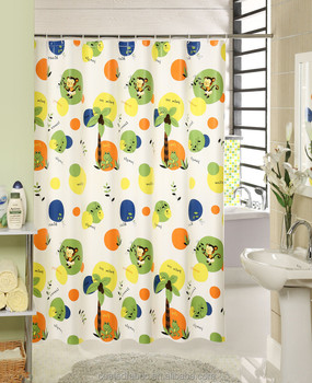 Polyester coated shower curtain fabric