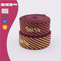 Jacquard polyester webbing for bed mattress binding