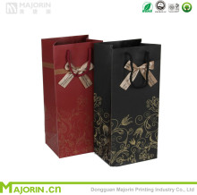 Luxury design wine packing paper bags custom made gift paper bags