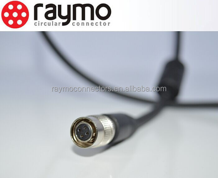 HR10A 6-pin Hirose connector and cable camera cable audio video cable