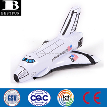 high quality inflatable space shuttle durable plastic inflatable aerospaceplane small inflatable space shuttle 3D model toys