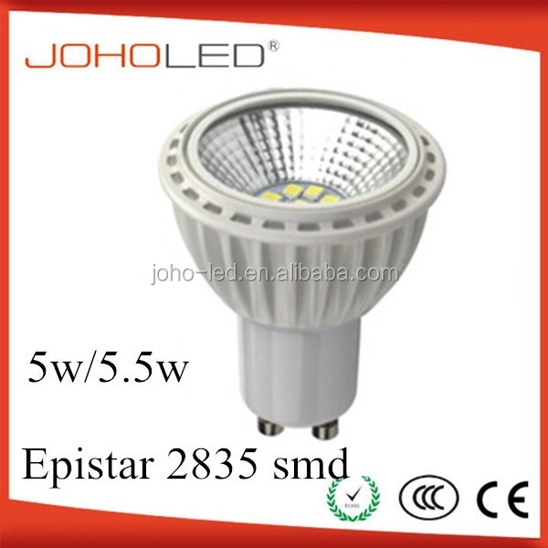 competitive price 5w gu10 high lumen smd 2835 chip led lamps