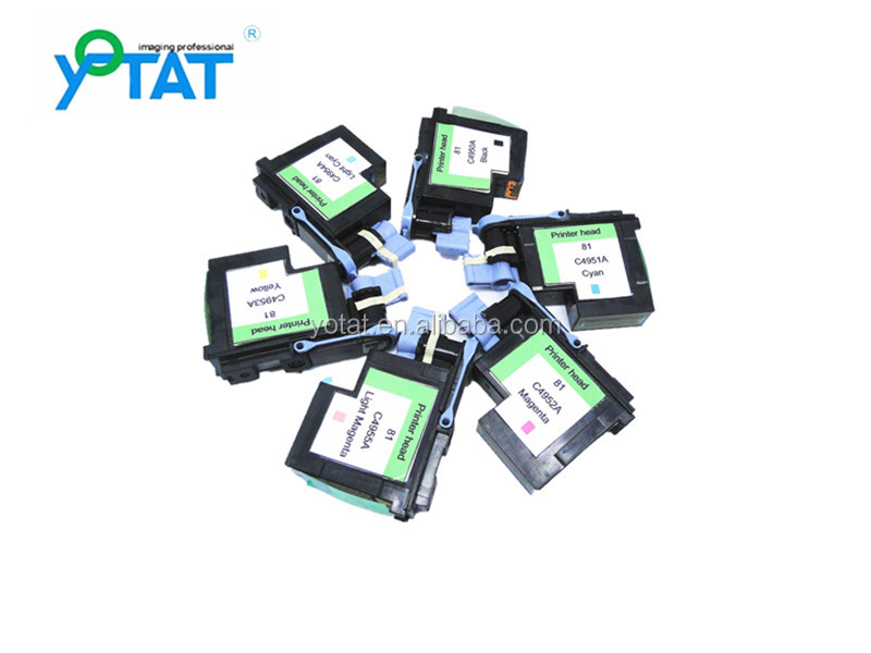 6pcs compatible for hp 81 printhead for hp Designjet 5000 5000ps 5500 5500ps printhead C4950A C4951A C4952A C4953A C4954A C4955A