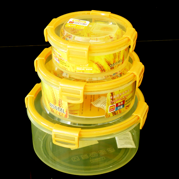 silicone co-injected Round Nesting Trio Food Storage Container, Set of 3