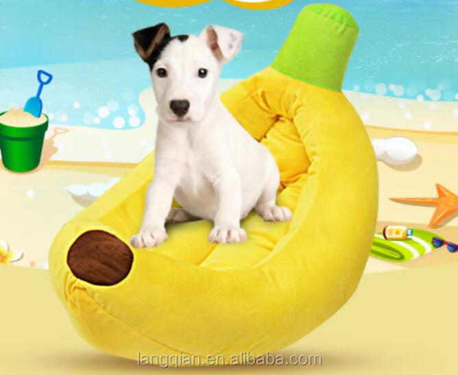 Hotselling products of high quality cute fruit banana shaped dog pet beds