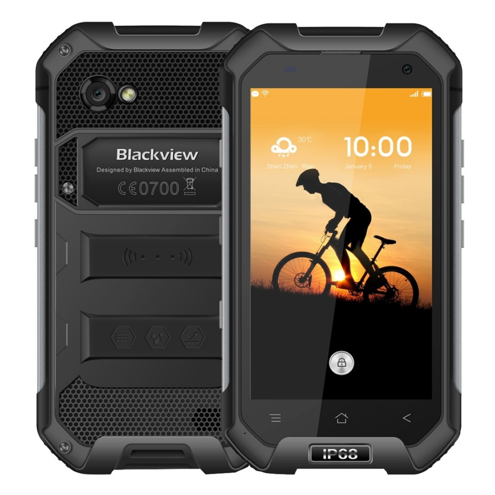 "Blackview BV6000 Smartphone 4G LTE Waterproof IP68 4.7"" HD MT6755 Octa Core Android 6.0 Mobile Cell Phone 3GB RAM 32GB ROM 13MP"
