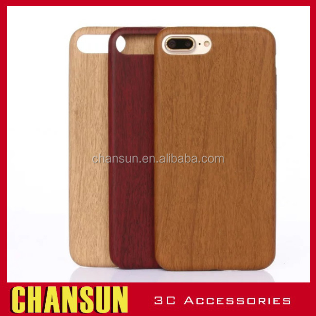Mobile phone accessories,genuine wood grain leather phone case for iphone 7