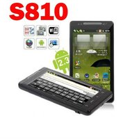 S810 3G WCDMA GPS Android 2.3 WiFi Java Capacitive touch screen CECT cell phone Black