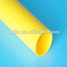 New arrival high quality PVC/ABS/PMMA yellow hard tube tubing for any size