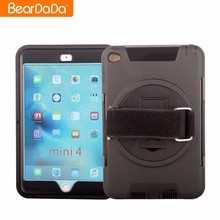 Unique Design 360 Degree Rotating hand strap case mobile for ipad mini 4