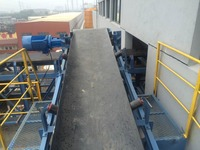 belt conveyor machine flexible or fixed type rubber flat bucket coal or mine industry conveyor