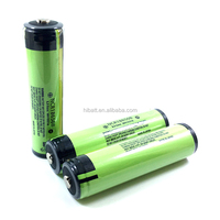 Button top Lithium ion battery NCR18650B 3400mAh 3.7V with PCB for strong flash light