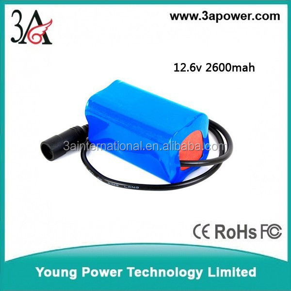 Manufacturers custom 12v 2600mah li-ion battery with bms pcm DC plug Medical equipment built-in lithium battery