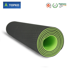 2016 Alibaba Express Custom Logo Eco Friendly 4mm high resilient Closed Cell TPE Yoga Mat