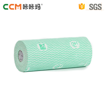 China Manufacturer disposable spunlace nonwoven fabric kitchen cleaning dry wipes roll