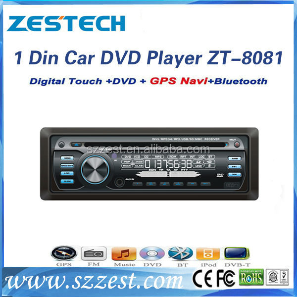 ZESTECH OEM 1 din car dvd player with fm usb sd aux and bluetooth for bus (24V)