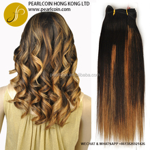 Hot Selling Ombre Weaving Yaki Silky Straight Colored Thin Weft 100% Human Hair Weave Bundles Three Tone Non-Remy Hair Weaving