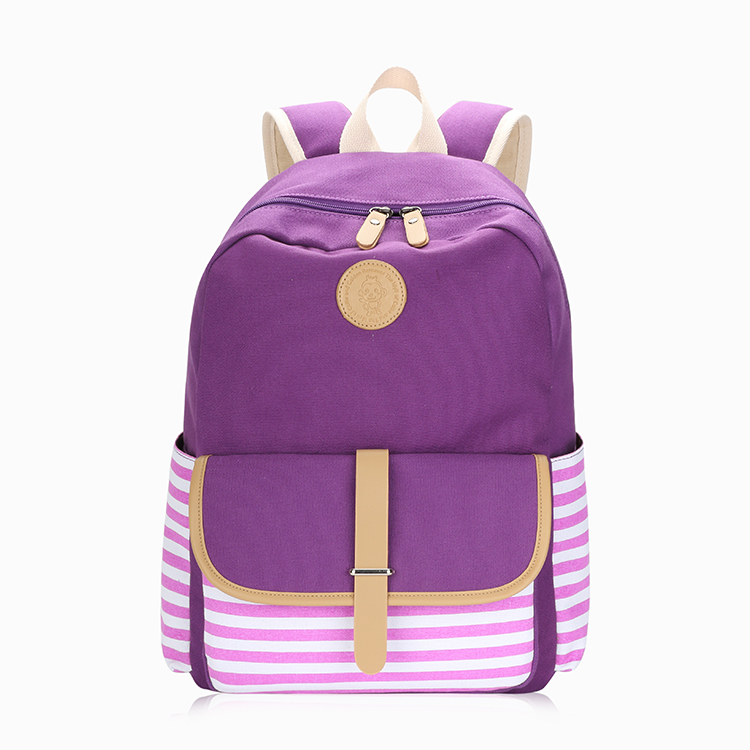 High Quality Lightweight Cute Comfort Causal Canvas Backpack For Girls <strong>School</strong>